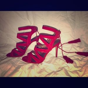 Red bison gladiator sandals